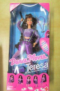 "NIB Barbie ~ Dance Moves"" Teresa Purple 1994 -13084 By Mattel #Mattel #DollswithClothingAccessories"