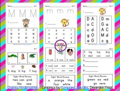 FREE Mm phonics sheets- also grab A, G, and D for free as well!