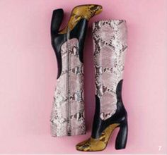 prada snake print boots | Reptile style: Unexpected splashes of snake-print cause a stir ...