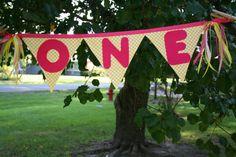 Lemonade inspired first birthday banner by FstopCreations on Etsy