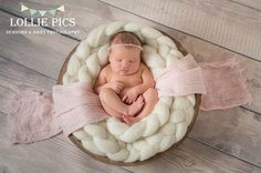 Newborn prop wool braid thick plait basket filler by FeltFur Newborn Pictures, Baby Pictures, Baby Photos, Newborn Photography Props, Newborn Photo Props, Photography Poses, Hut Party, Props For Sale, Accessoires Photo