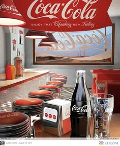 Vintage Coca Cola. would look cool in a diner.
