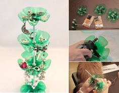 How to: Use recyclables to make your own jewelry stand. Never misplace your earrings again!