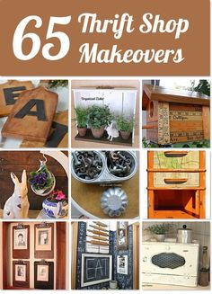 65 Thrift Store (and yard sale) makeovers