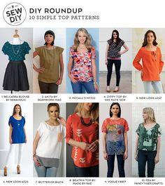 10 Simple Top Sewing Patterns   Sew DIY