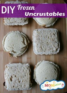 DIY Frozen Uncrustables - simple, but I just never remember to make these!!! Hopefully pinning will remind me...