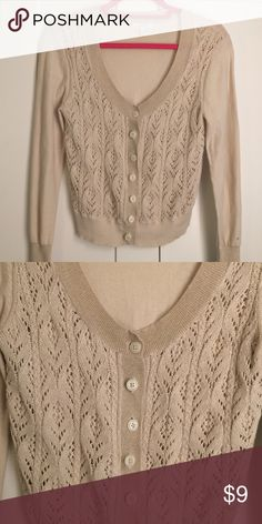 Beige cardigan with shimmer detail *Flexible with prices.* Beige cardigan from Delia's with some shimmery detail. Great condition! Delia's Sweaters Cardigans