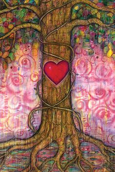 The Crimson Heart of Trees  Original artwork by Toni Carmine Salerno.  Pencil and watercolour on 300gsm archival quality watercolour paper.  Size: 50.8cm x 38cm (20 x 15 inches)   SOLD