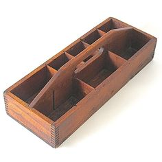 Love this vintage antique wooden carrier for the perfect organizing sidekick.