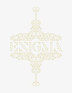 Enigma | Type & Ornament  by Shahan Keuork   www.lab333.com  https://www.facebook.com/pages/LAB-STYLE/585086788169863  http://www.labs333style.com  www.lablikes.tumblr.com  www.pinterest.com/labstyle