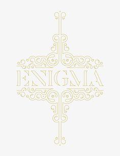 Enigma | Type & Ornament  by Shahan Keuork, via Behance