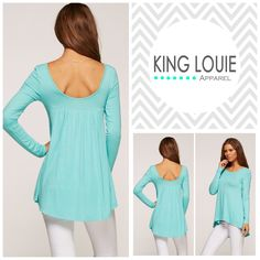 This ultra soft jersey cotton Lowback Pheasant Top is perfect to pair with your favorite pair of leggings or order a size large enough to turn into a perfect sundress! $25.00 + 20% off when you sign up for KL VIP! www.shopkinglouie.com