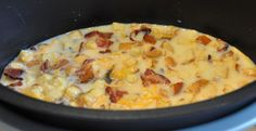 Slow Cooker Recipe   Egg and Cheese Bake