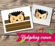 Great activity for woodland party, birthday party or any other party :) YOU WILL GET: - 1 Hedgehog crown. You can print it as many times as you want. - Design will be in 1 printable PDF file perfect for printing on letter size paper. And also as JPG file. Also set of 5 woodland