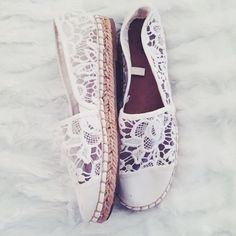 Lace Espadrilles Lovely white lace espadrilles worn once and in great condition! Mossimo Supply Co Shoes
