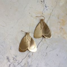 Moth Earrings. Gold Moth Earrings. Statement Earrings. Insect Earrings. Gold Filled. Large Metal Earrings. Wings. Wing Earrings. Unique. by MissCAlexandria on Etsy https://www.etsy.com/listing/227501781/moth-earrings-gold-moth-earrings