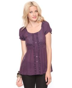 Forever 21 Cap Sleeve Top - Purple $15.80 - bought it. :)