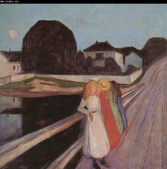 Edvard Munch | Edvard Munch Four Girl on the bridge