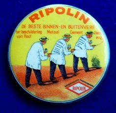 icollect247.com Online Vintage Antiques and Collectables - Ripolin advertising Pocket Mirror Advertising-Pocket