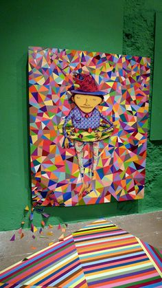 Here are some images from Brazilian twins Os Gemeos (São Paulo) latest exhibition Fermata at Museu Vale in Brazil. The show features some really amazing large scale pieces along with some smaller work which uses their signature character. All images Osgemeos®.