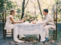 Fall outdoor wedding reception in Florida | Erika Delgado Photography | see more on: http://burnettsboards.com/2014/12/fall-romance-florida/