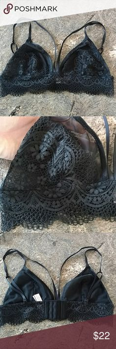 Victoria's Secret Sexy crochet bralette NWT. Unlined, Very sexy! Adjustable straps and clasps in back. Great deal, bundle with other items to save $$$ with combined shipping and discounted price!  **Buy any 3 sports bras, bralettes, bras, or mix&match 3 at regular price, and get the 4th one FREE! Just put the 4 bras in a bundle, and send me an offer minus the lowest priced bra, or I will send you an offer minus the lowest priced bra! Victoria's Secret Intimates & Sleepwear Bras