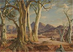 Hans Heysen  In the Flinders - Far North   1951