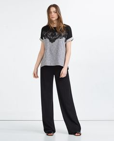 ZARA - WOMAN - LACE T-SHIRT