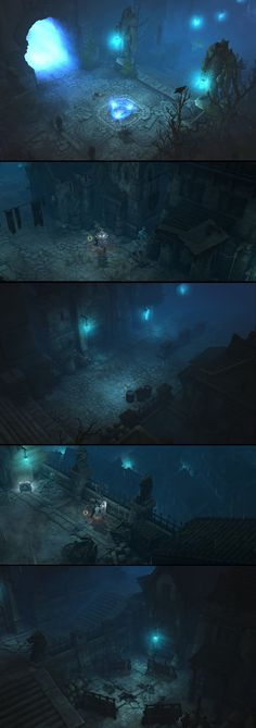 ArtStation - Diablo III Reaper of Souls, Anessa Silzer Environment Concept Art, Environment Design, Sci Fi Fantasy, Fantasy World, Fantasy Landscape, Environmental Art, Texture Painting, Game Art, Scene