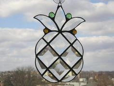 Pineapple Suncatcher in Beveled and Stained Glass - Handcrafted - Made in USA on Etsy, $39.00