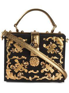 Dolce & Gabbana 'Dolce' Shoulder Bag in Black