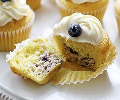 Cupcakes Rellenos de Cheesecake de Limón