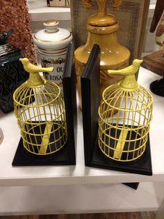 Birdcage book ends home goods