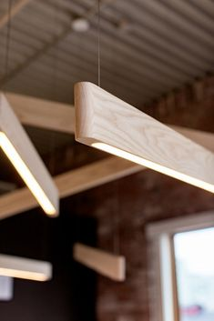 Distilled to its purest form, Line Lights are precision CNC milled and hand-finished to a fine plainness. Showcasing the nature grain and thoughtful consideration to proportion, Line Lights feel at home as standalone pendants and as well as can be arranged and configured into striking custom compositions. Available in Walnut, White Ash and Oak.
