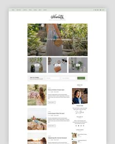 Nunito - WordPress Theme - Blog Theme - Premade Blog Themes - Responsive Blog Templates - Blog Design - Travel - Lifestyle - Fashion