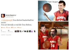 Tyler Joseph and Josh Dun funny twenty one pilots skeleton clique high school musical
