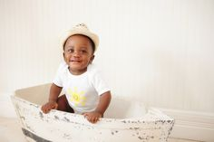 Give Back | Sunshine Onesie.  Two Babies. Two Smiles. One Mission. For every onesie purchased, another onesie is donated to a baby in need.  www.lucandlou.com