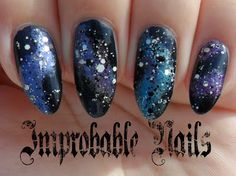 "Improbable Nails: ""OUTER SPACE"" nails + make up in collaborazione con Alice in Makeupland"