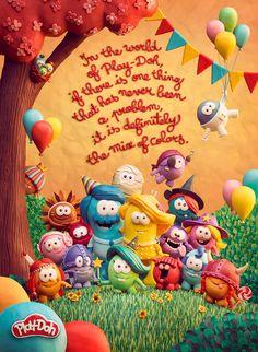 La marca de plastilina Play-Doh ha lanzado una campaña con la que pretende trasladar tanto a niños como a mayores a un mundo de fantasía y creatividad.