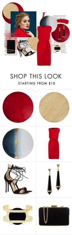 """""""Red Dress"""" by elle-a-belle ❤ liked on Polyvore featuring Kim Seybert, Arteriors, Marie Daâge, Vivienne Westwood Anglomania, Gianvito Rossi, House of Harlow 1960, MICHAEL Michael Kors, Chanel, women's clothing and women"""