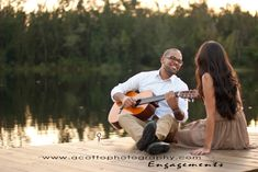 A. Cotto Photography » South Florida Lifestyle Photography Guitar serenade by the lake. Engagement session.