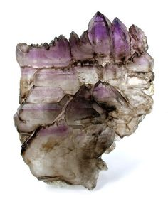 Amethyst and Smoky Quartz - | http://colorfulgemstones.blogspot.com