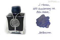 Encre pour l'eau J. Herbin Bleu - 1670 Anniversaire - Bouteille de 50 ml - J. HERBIN H150 / 18