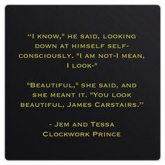 "James ""Jem"" Carstairs and Theresa ""Tessa"" Grey (Clockwork Prince by Cassandra Clare)"