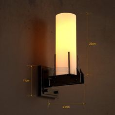 Loft Style Industrial Candle LED Wall Sconce Glass Vintage Wall Lamp For Home Antique Wall Lights Indoor Lighting Luz De Pared
