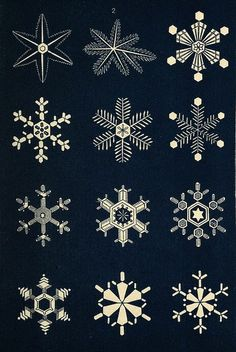 The illustrative plates from Snowflakes: a Chapter from the Book of Nature (1863)