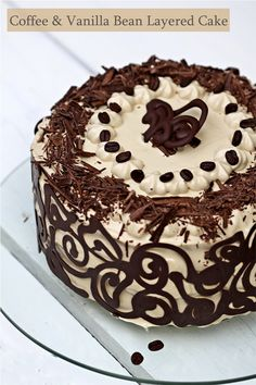 Coffee & Vanilla Bean Layer Cake - AMY REMEMBER THIS FOR THE AWESOME SWIRLYS