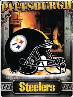"Pittsburgh Steelers 60""x80"" Royal Plush Raschel Throw Blanket - Aggression Style"