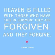 forgiven and forgive