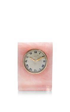 Vintage Cartier Desk Clock by Peter Byworth Now Available on Moda Operandi